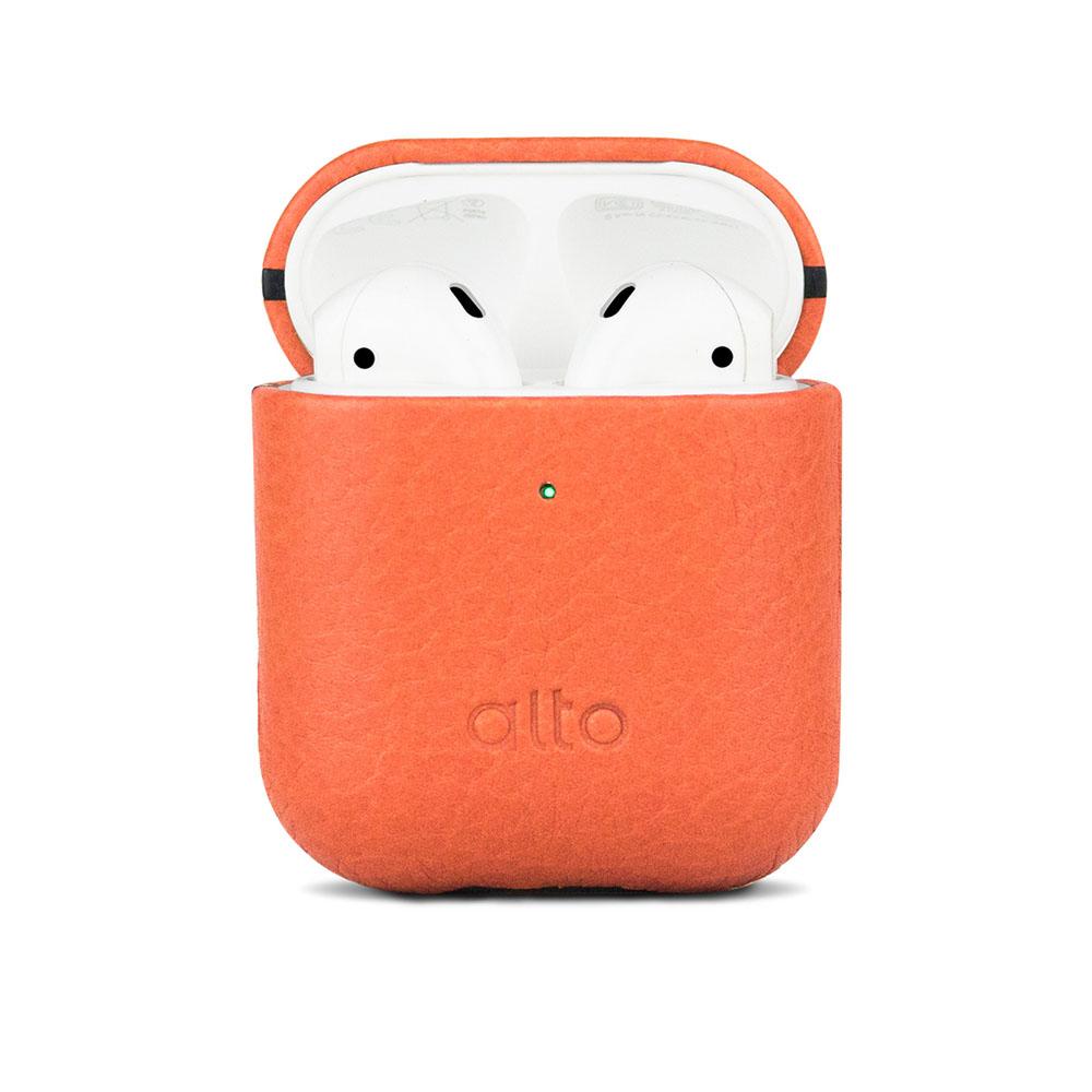 Alto|AirPods 皮革保護套 (蜜桃橘)