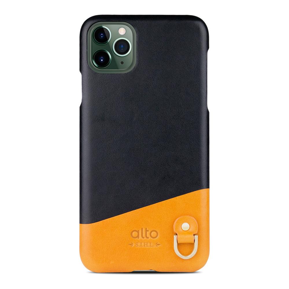 Alto|iPhone 11 Pro Max 皮革保護殼 Anello (渡鴉黑)