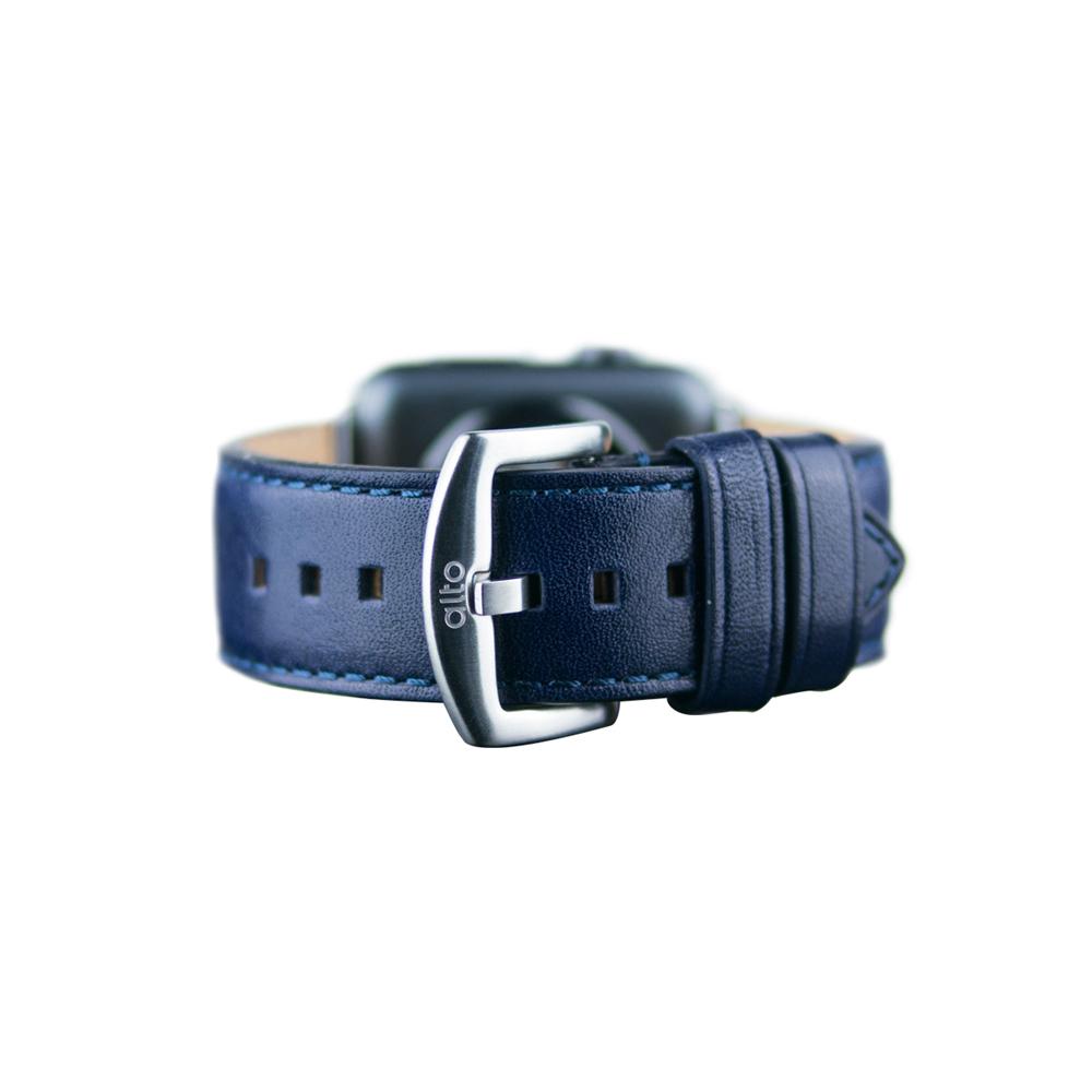 Alto Apple Watch 皮革錶帶 42/44mm - 礫石灰 (適用 Apple Watch 1~6代)