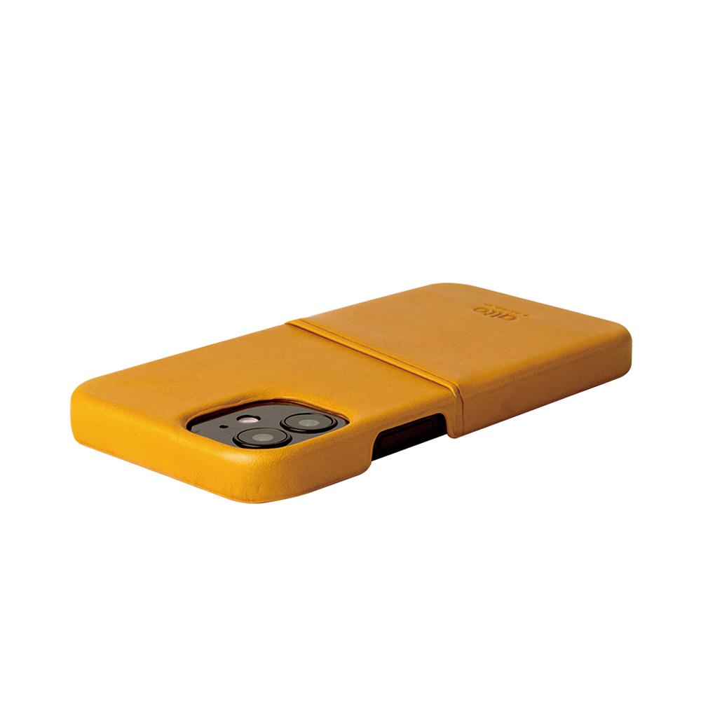 Alto|iPhone 12 mini 5.4吋 插卡皮革手機殼背蓋 Metro (焦糖棕)