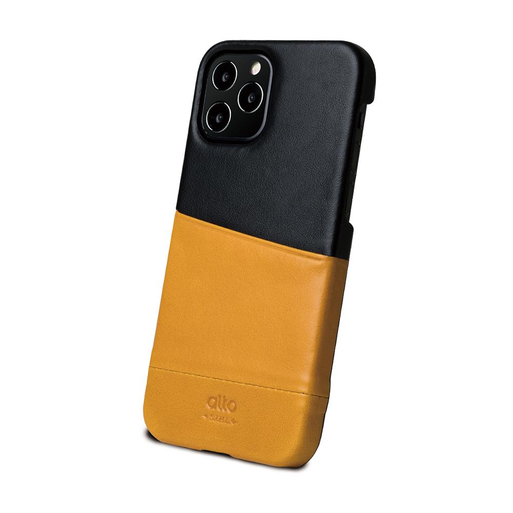 Alto|iPhone 12 /Pro 6.1吋 插卡皮革手機殼背蓋 Metro (焦糖棕/渡鴉黑)