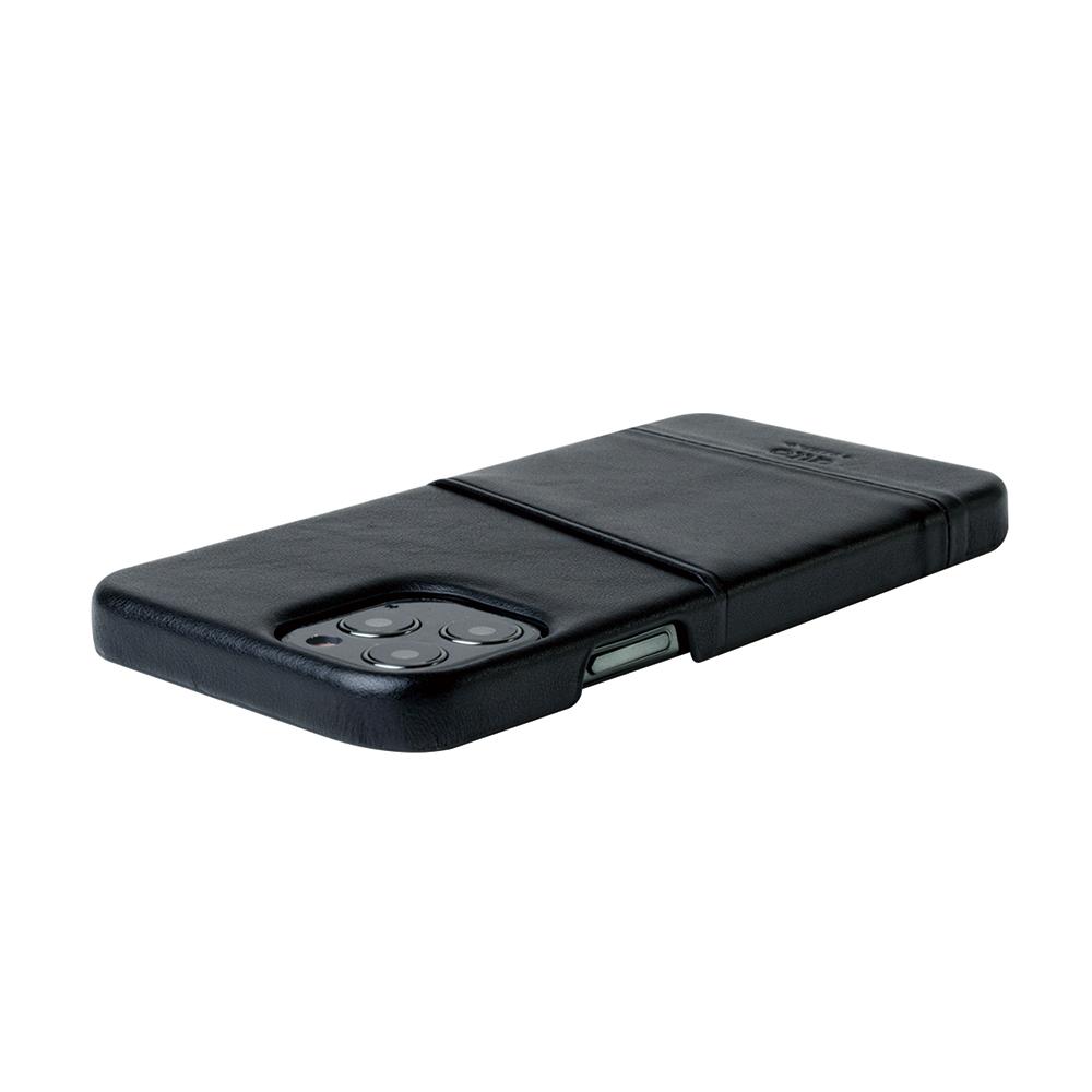 Alto|iPhone 12 /Pro 6.1吋 插卡皮革手機殼背蓋 Metro (渡鴉黑)