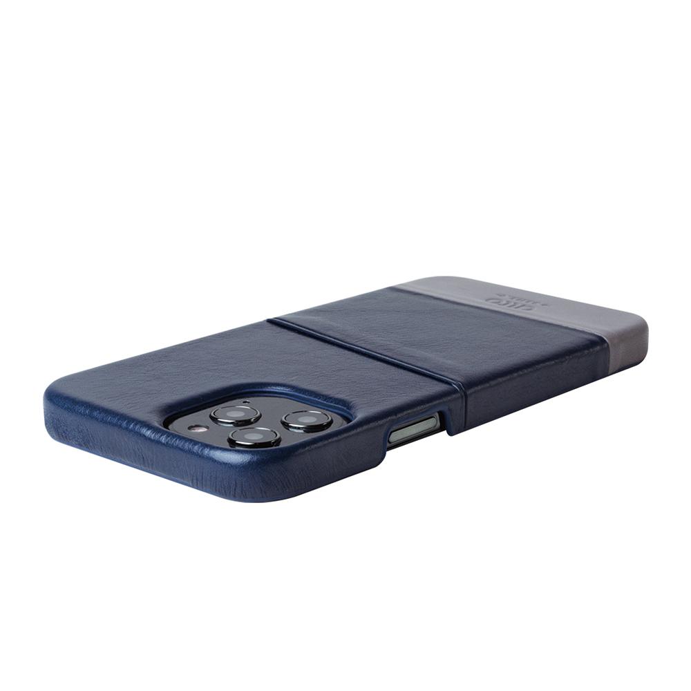 Alto|iPhone 12 Pro Max 6.7吋 插卡皮革手機殼背蓋 Metro (海軍藍/礫石灰)