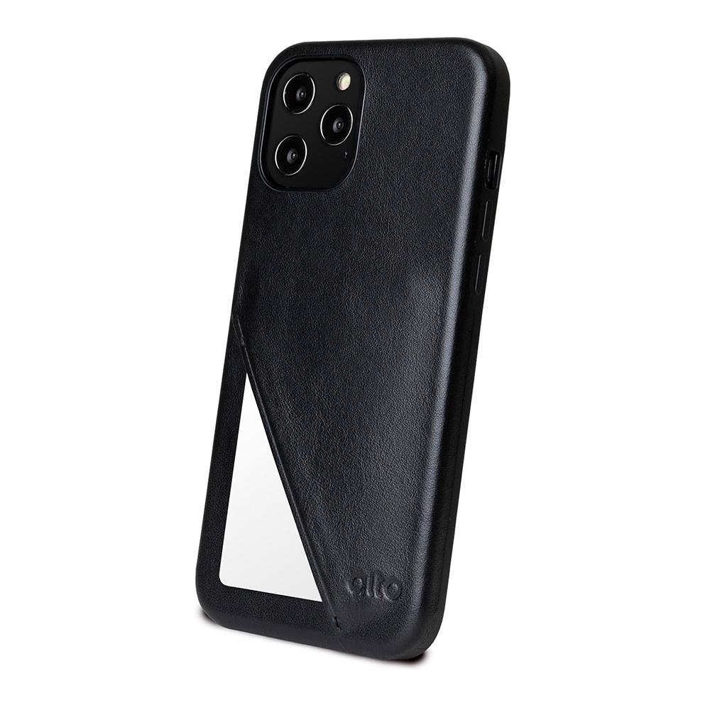 Alto|iPhone 12 /Pro 6.1吋 插卡式皮革防摔手機殼 Metro 360 (渡鴉黑)