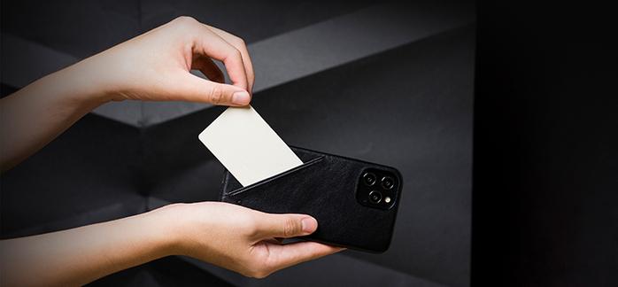 Alto iPhone 12 Pro Max 6.7吋 插卡式皮革防摔手機殼 Metro 360 (渡鴉黑)