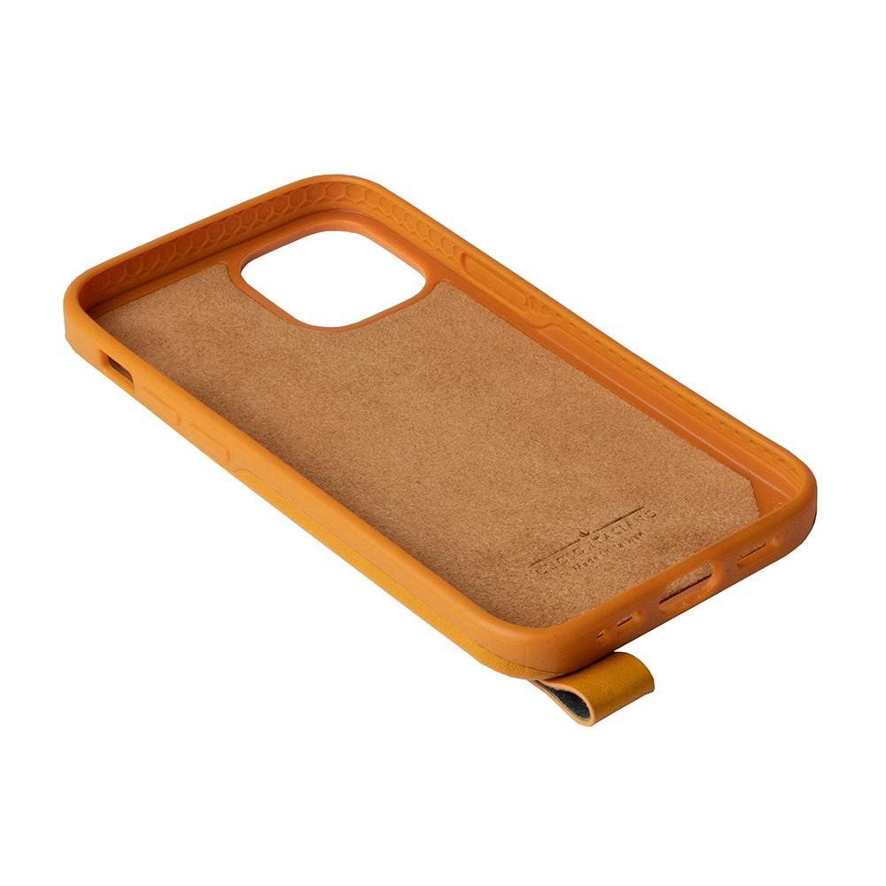 Alto|iPhone 12 mini 5.4吋 頸掛皮革防摔手機殼Anello 360 - (焦糖棕) (附頸掛繩)