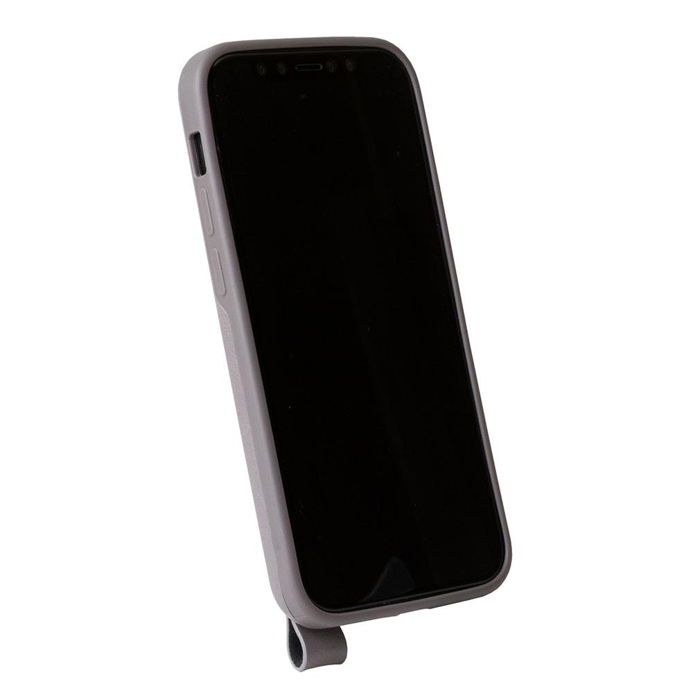 Alto|iPhone 12 mini 5.4吋 頸掛皮革防摔手機殼Anello 360 - (礫石灰) (附頸掛繩)