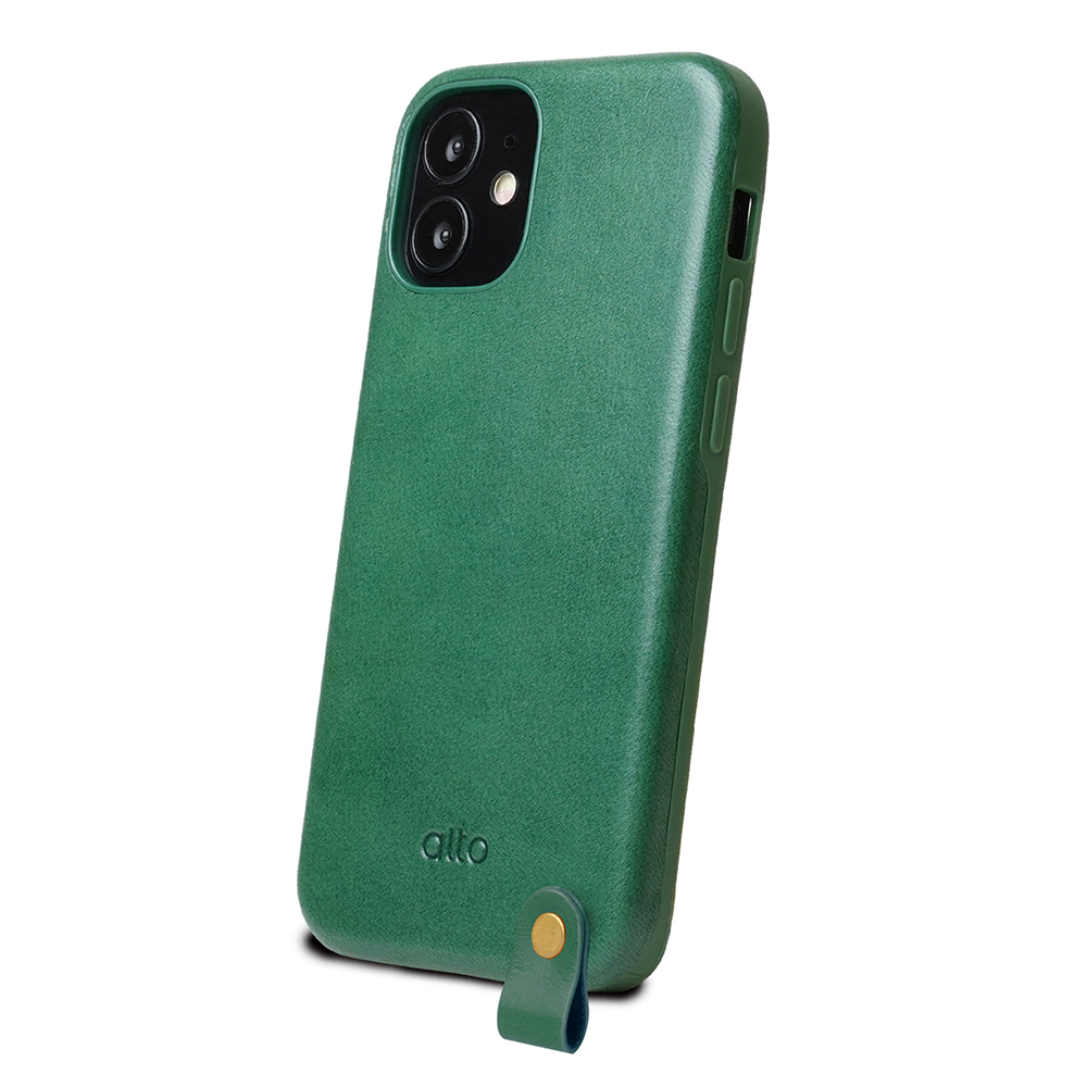 Alto|iPhone 12 mini 5.4吋 頸掛皮革防摔手機殼Anello 360 - (森林綠) (附頸掛繩)
