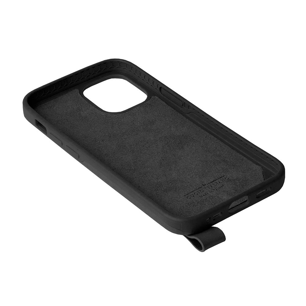Alto iPhone 12 mini 5.4吋 頸掛皮革防摔手機殼Anello 360 - (渡鴉黑) (附頸掛繩)