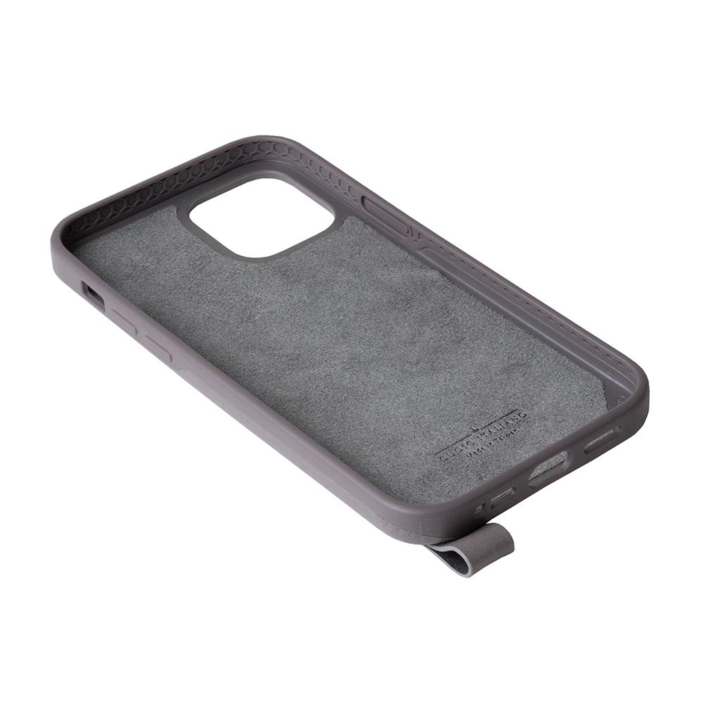 Alto iPhone 12 /Pro 6.1吋 頸掛卡插皮革防摔手機殼Anello 360 - (礫石灰) (附頸掛繩)