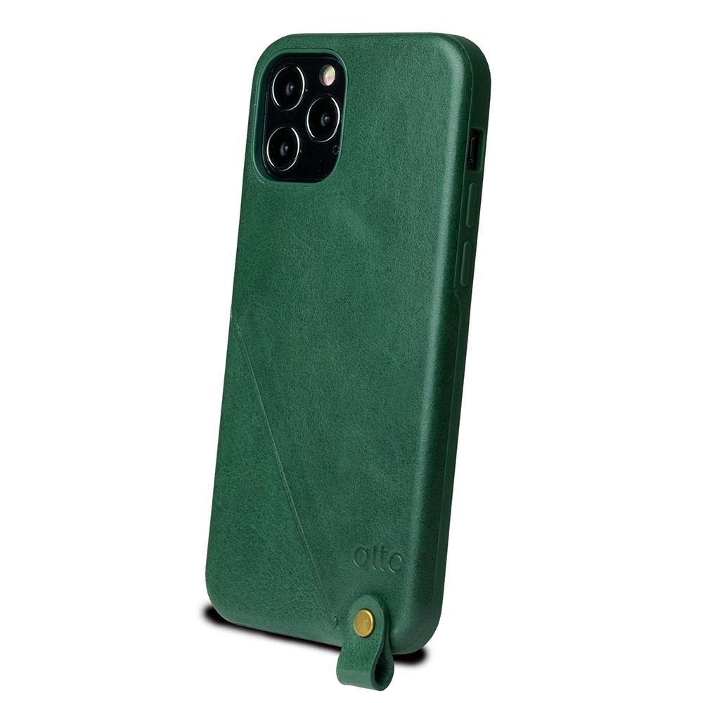 Alto|iPhone 12 /Pro 6.1吋 頸掛卡插皮革防摔手機殼Anello 360 - (森林綠) (附頸掛繩)