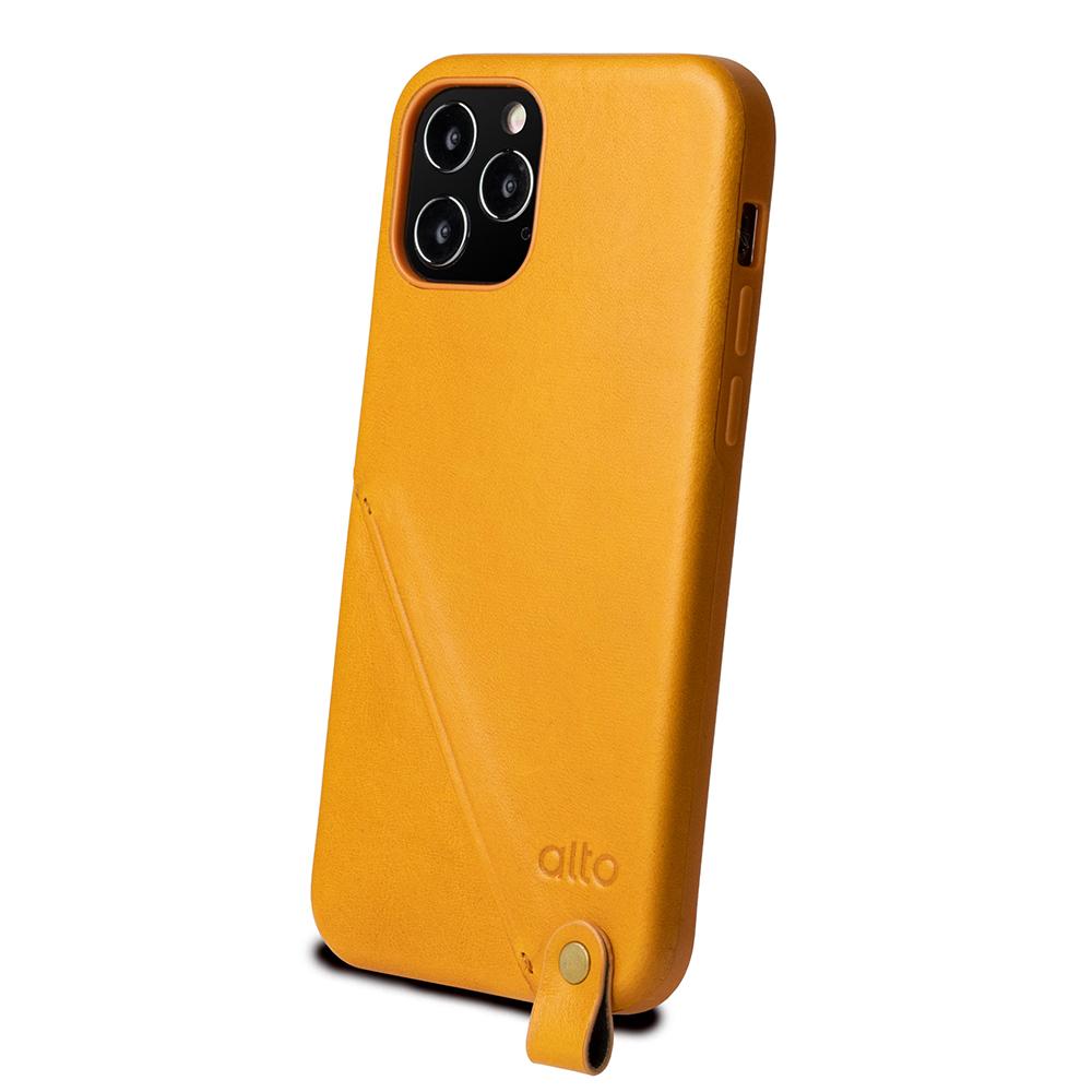 Alto iPhone 12 Pro Max 6.7吋 頸掛卡插皮革防摔手機殼Anello 360 - (焦糖棕) (附頸掛繩)