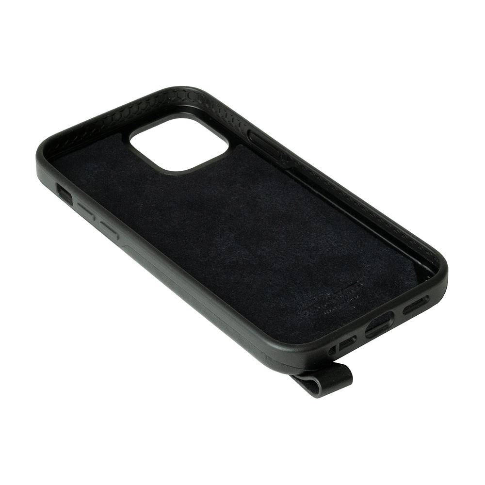Alto|iPhone 12 Pro Max  6.7吋 頸掛卡插皮革防摔手機殼Anello 360 - (渡鴉黑) (附頸掛繩)