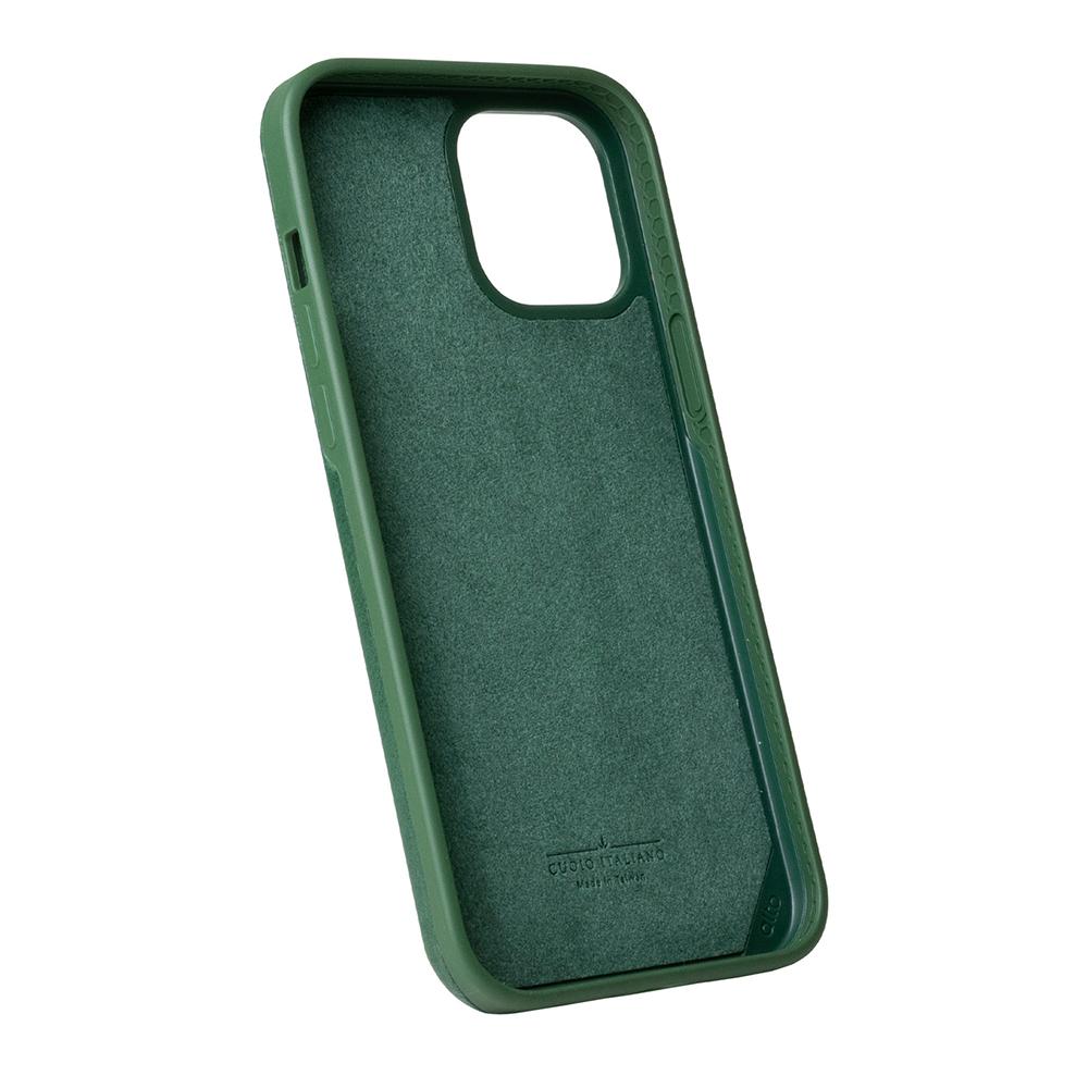 Alto|iPhone 12 mini  5.4吋 真皮手機殼背蓋 Original 360 - (森林綠)