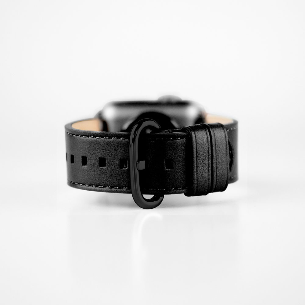 Alto|Apple Watch 皮革錶帶 38mm/40mm - 渡鴉黑 ( for Apple Watch Series 1~6 & SE)