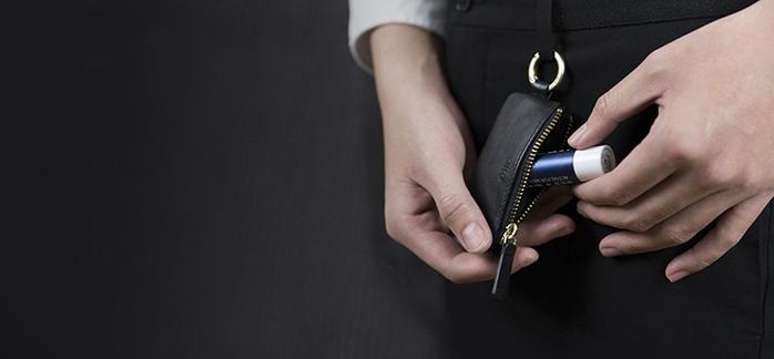 Alto|皮革鑰匙環零錢包 – 渡鴉黑
