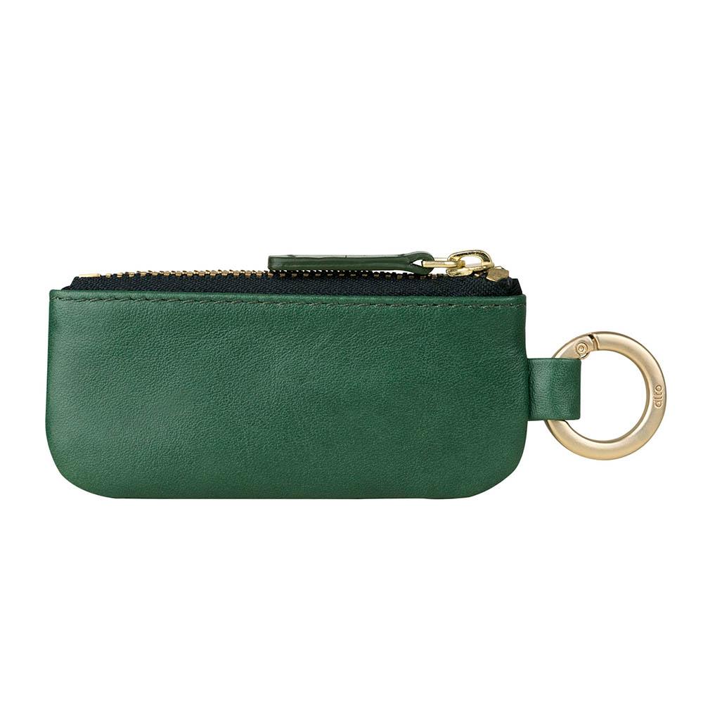 Alto|皮革鑰匙環零錢包 – 森林綠