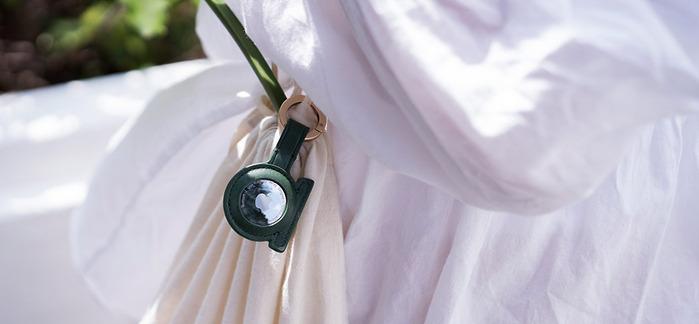 alto AirTag 皮革掛環/鑰匙圈 - 森林綠