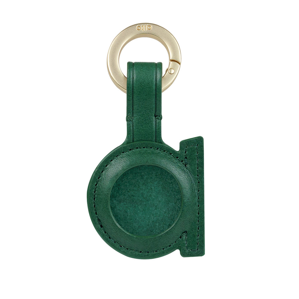 Alto|AirTag 皮革掛環/鑰匙圈 – 森林綠