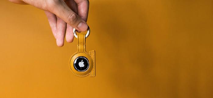 alto AirTag 皮革掛環/鑰匙圈 - 焦糖棕
