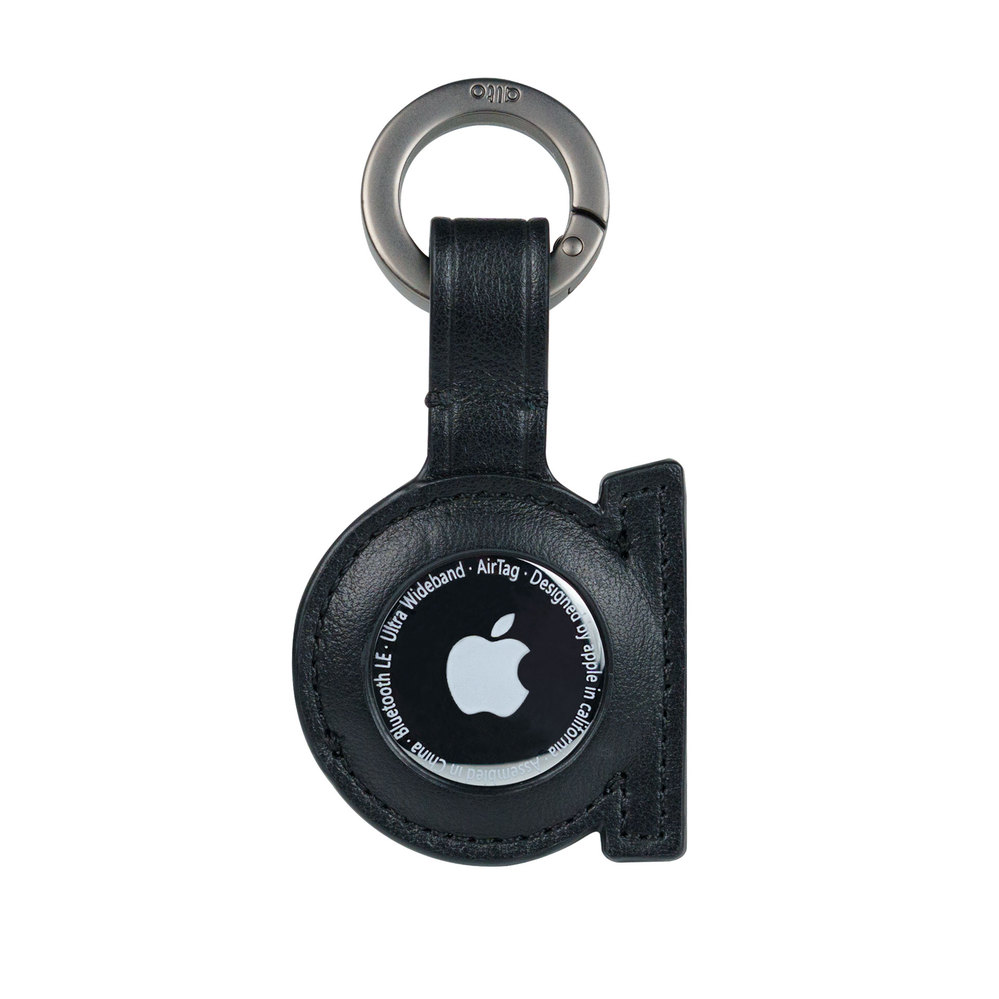 Alto|AirTag 皮革掛環/鑰匙圈 – 渡鴉黑