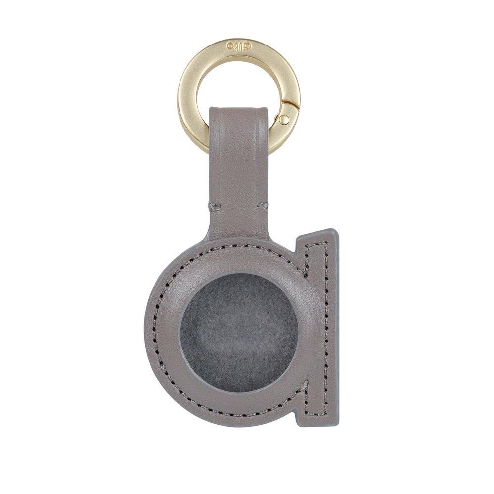 Alto AirTag 皮革掛環/鑰匙圈 – 礫石灰