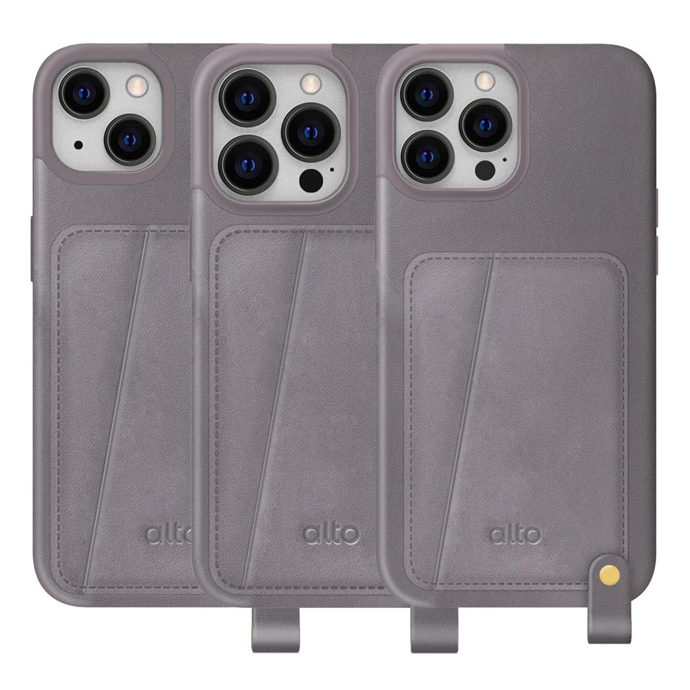 Alto|Anello 360 掛繩式插卡皮革防摔手機殼 iPhone 13/Pro/Max
