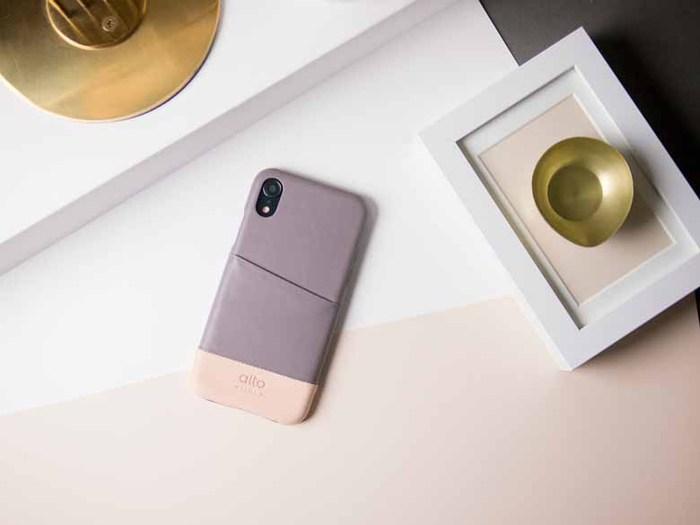 Alto|iPhone XR 皮革保護殼 Metro (礫石灰/本色)