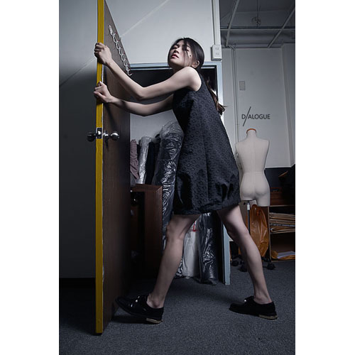 DIALOGUE|平織洋裝-若端