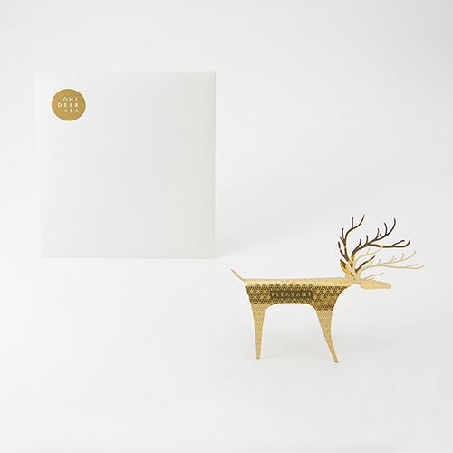 PLEASANT|黃銅快鹿禮卡 Deer Card Brass