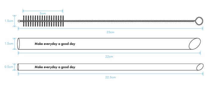 (複製)好日子 | 小小改變玻璃吸管組 - 小改變大不同