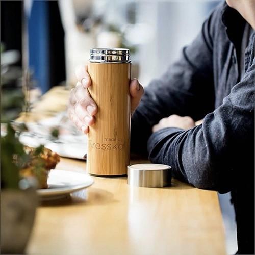 澳洲Fressko|原創經典濾泡杯 - Rush 追竹 (竹製外層 附濾網)