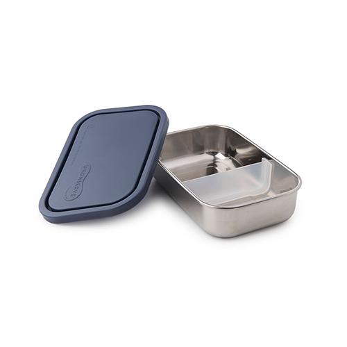 美國U Konserve|長方形不鏽鋼分隔便當盒 (二分格可拆) 一寧靜海藍
