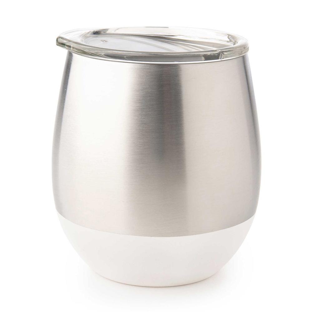 美國U Konserve 雙層保溫不鏽鋼杯 - 無瑕純白