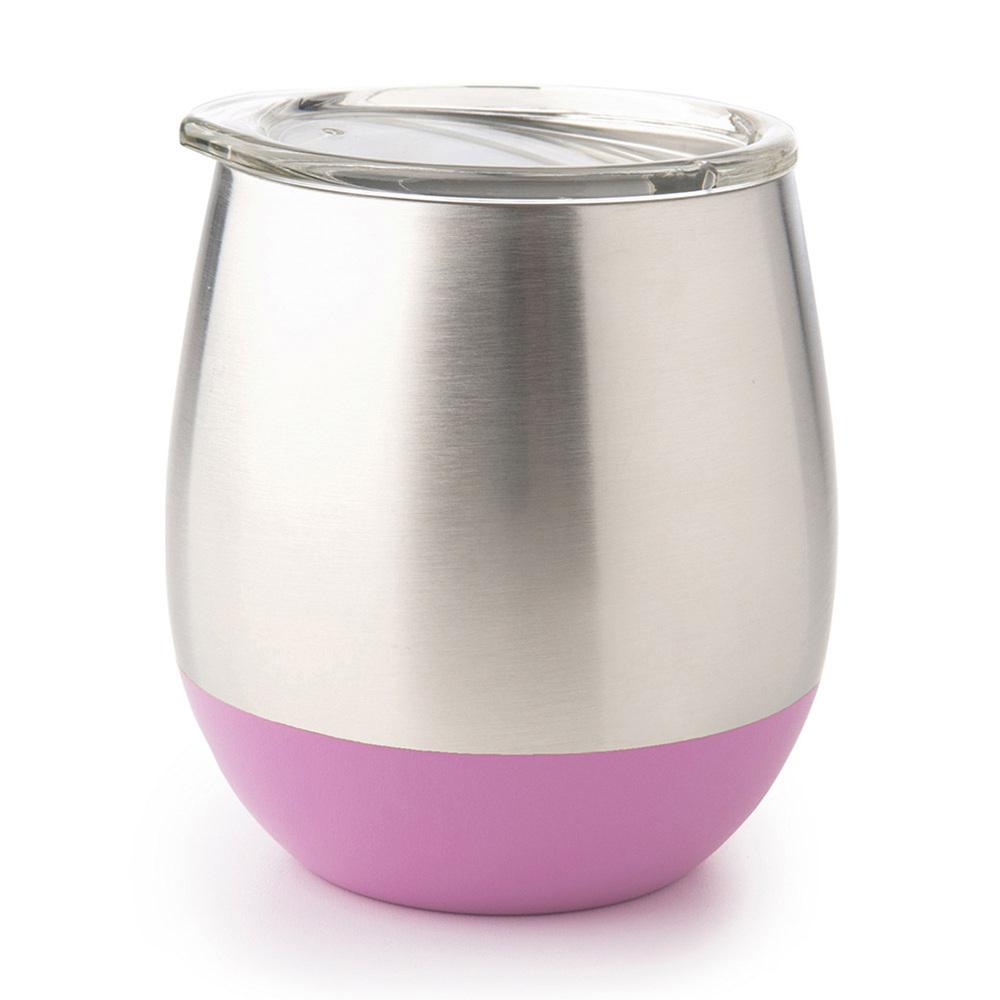 美國U Konserve|雙層保溫不鏽鋼杯 - 紫羅蘭粉