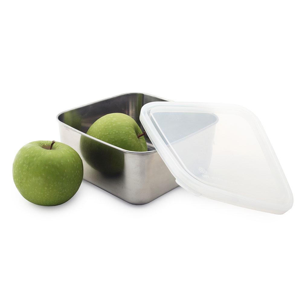 美國U Konserve|大方形不鏽鋼便當盒─純粹透明