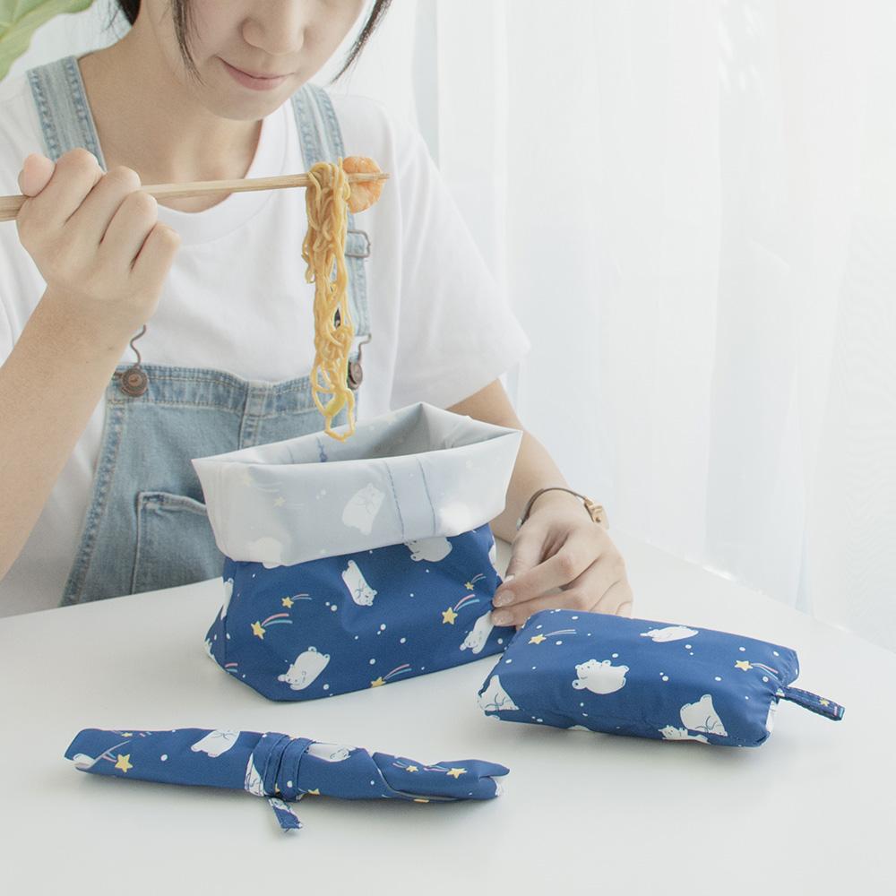 好日子|Pockeat環保食物袋(小食袋)流星白白