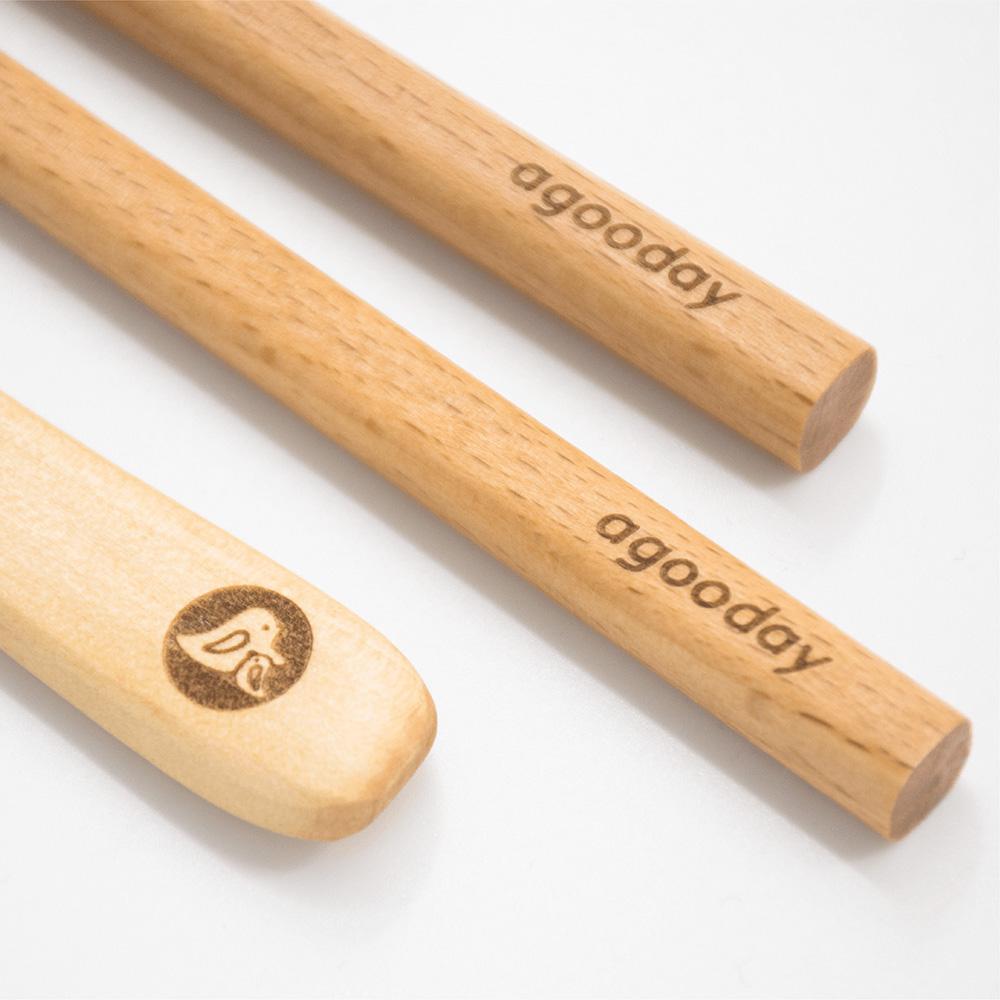 好日子 原木餐具組