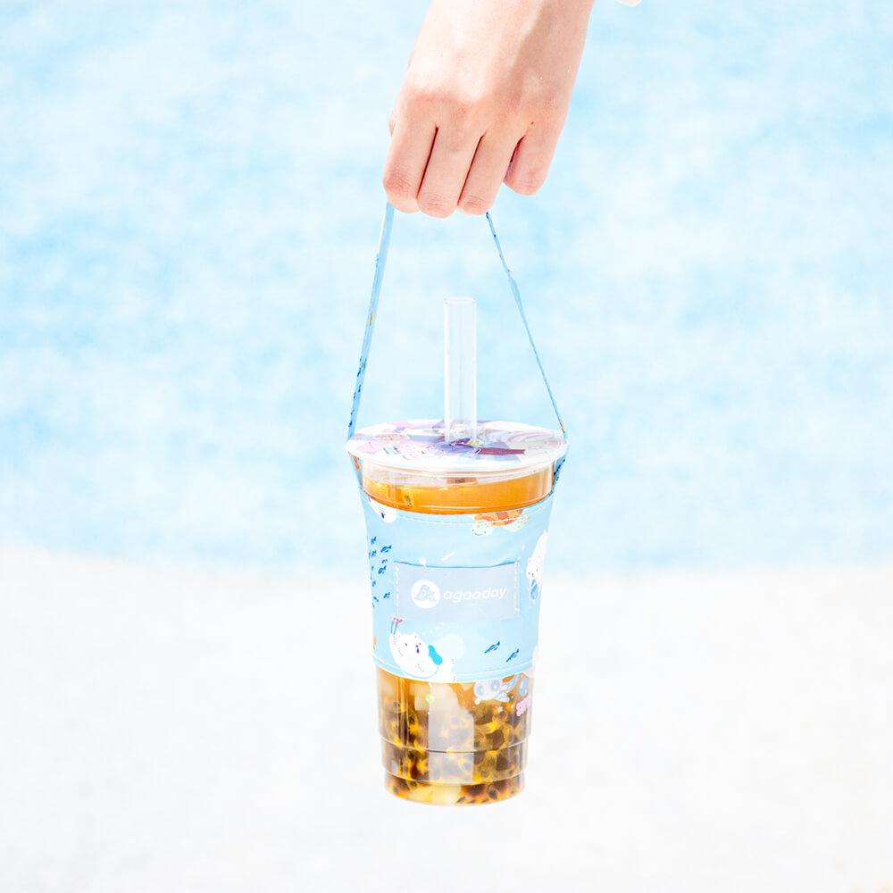 好日子|兩用飲料杯套-白白與海