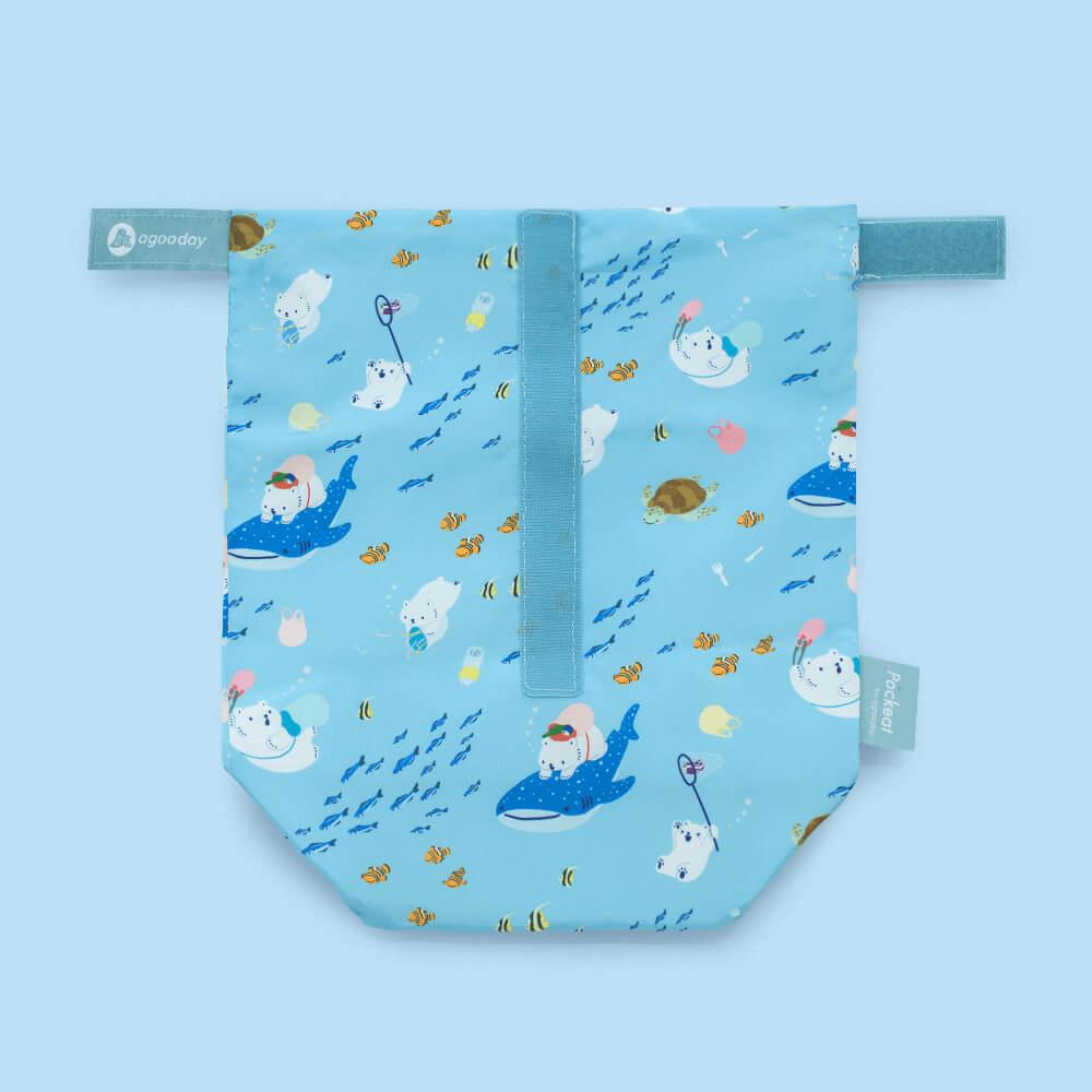 好日子 | Pockeat環保食物袋(大食袋)白白與海