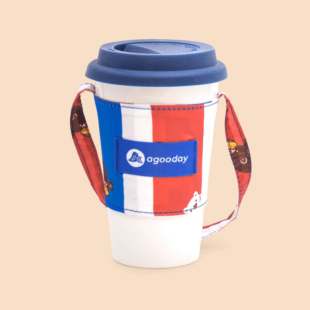 好日子 | 兩用飲料杯套-白白紅白藍