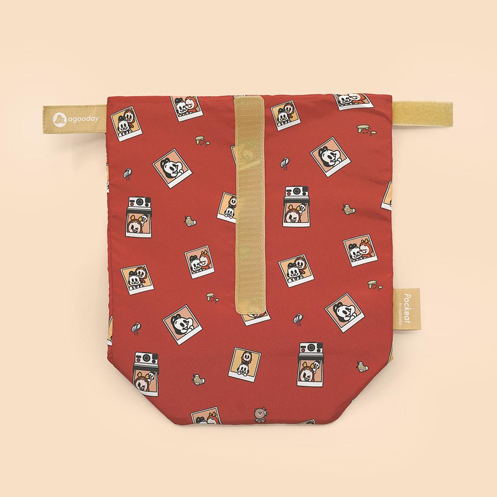 好日子 Pockeat環保食物袋(大食袋) 狗與鹿聯名款 - 最好的朋友