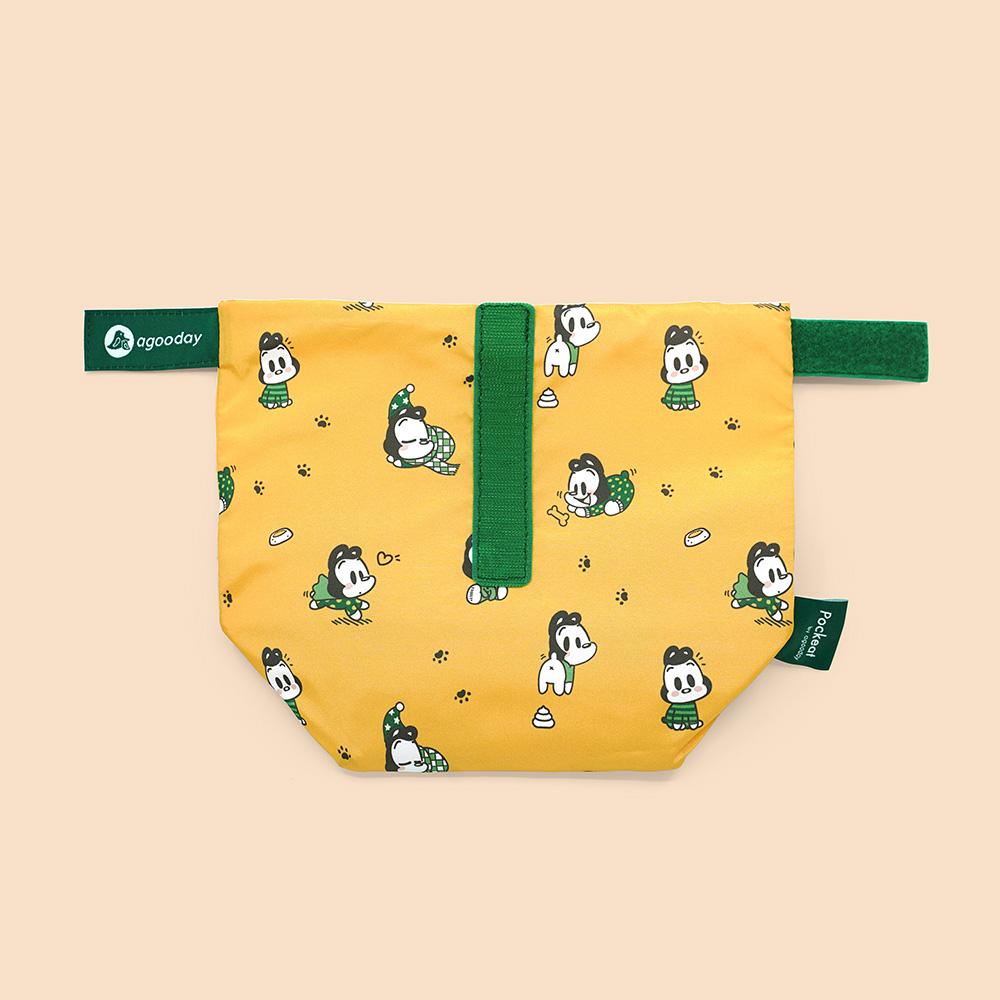 好日子|Pockeat環保食物袋(小食袋) 狗與鹿聯名款 - 暖暖的冬天