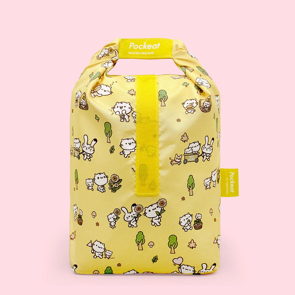 好日子 Pockeat環保食物袋(大食袋) 麻吉貓想放假
