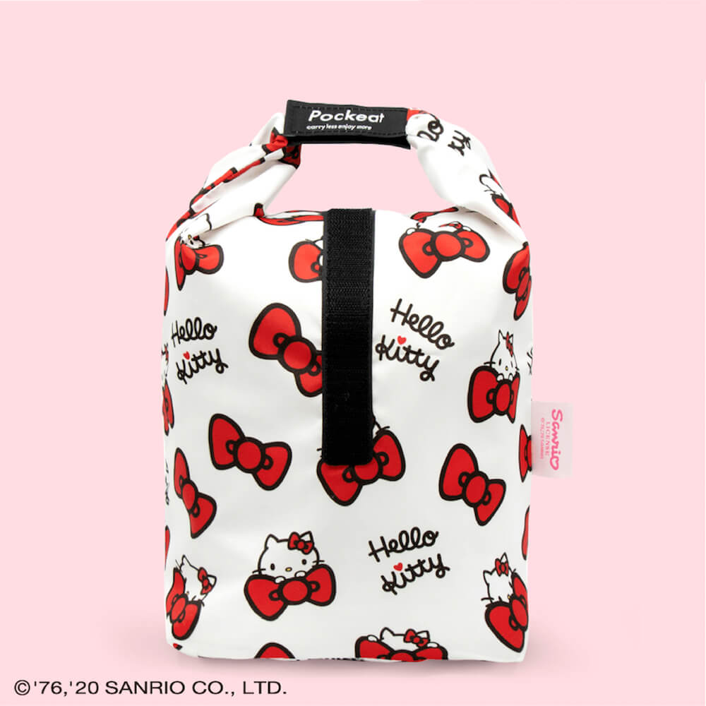 好日子|Pockeat環保食物袋(大食袋)Hello Kitty聯名款 - 蝴蝶結凱蒂