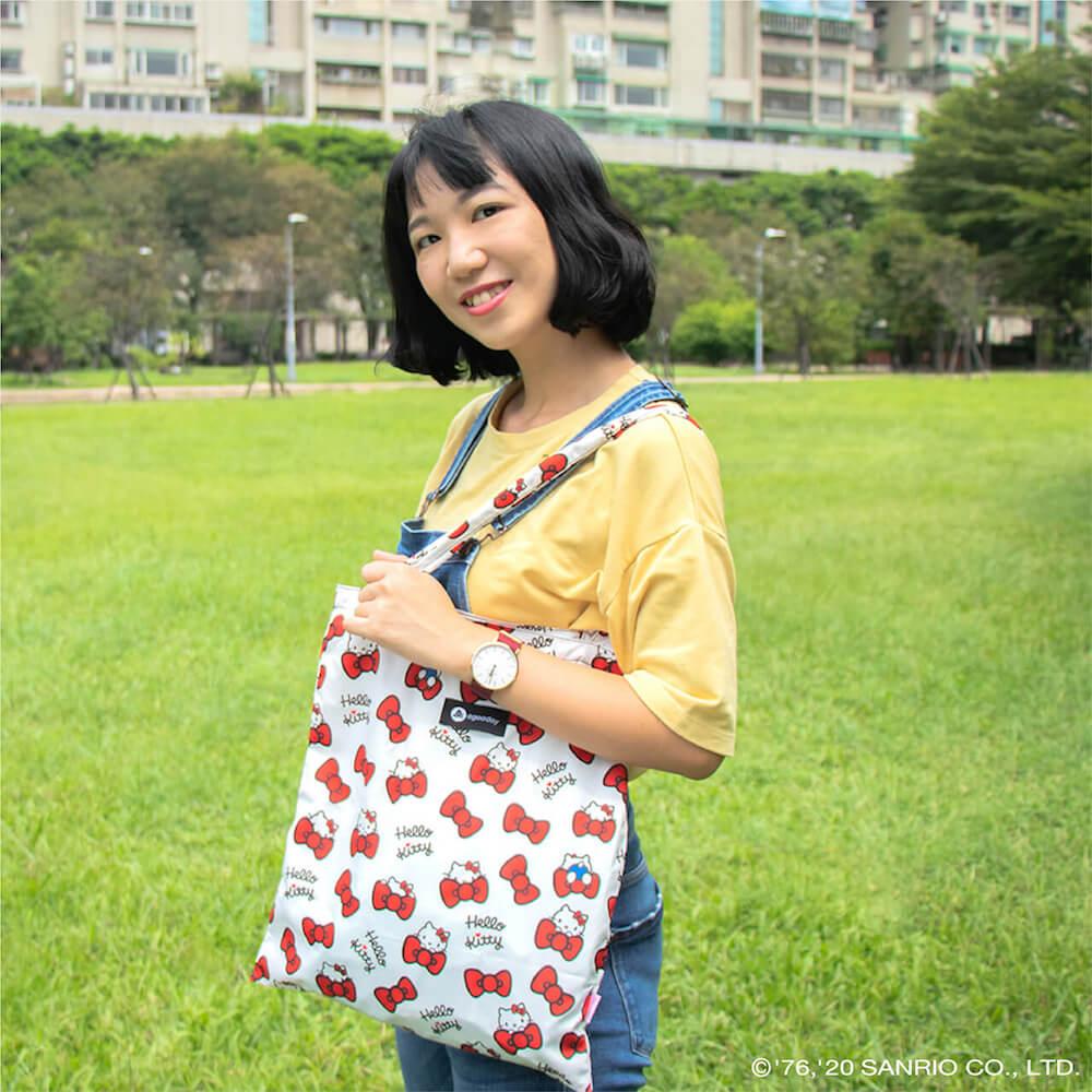 好日子 再生購物袋- Hello Kitty聯名款 - 蝴蝶結凱蒂