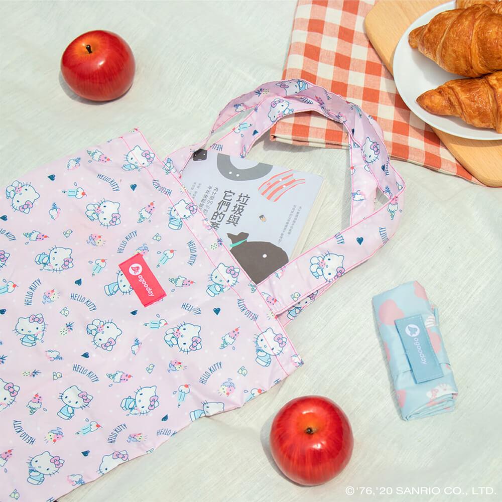 好日子|再生購物袋- Hello Kitty聯名款 - 花草好日子