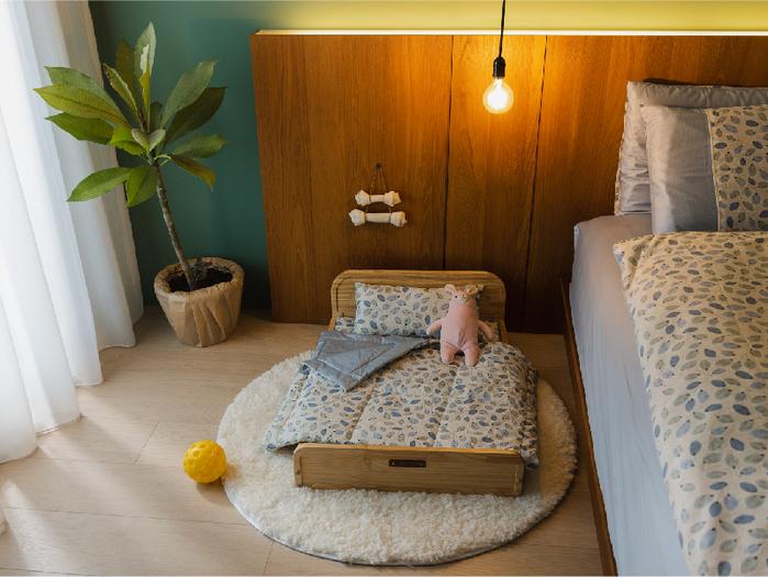 【拍拍】原木寵物床/L