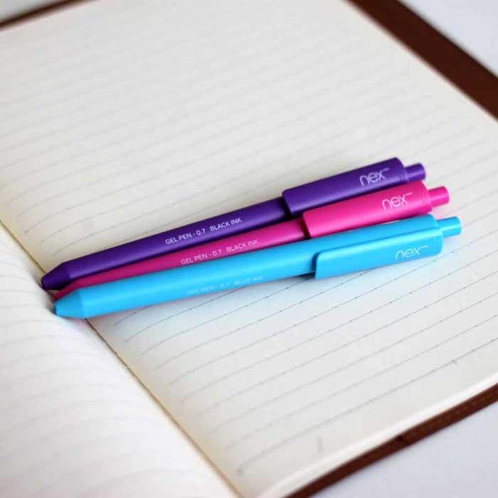 PREMEC|NEX GEL PEN 膠墨筆 紫 水藍 桃 三入組