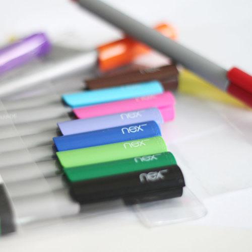 PREMEC|瑞士筆 LINE 鮮彩水性筆 0.4 mm 12色 12入袋裝